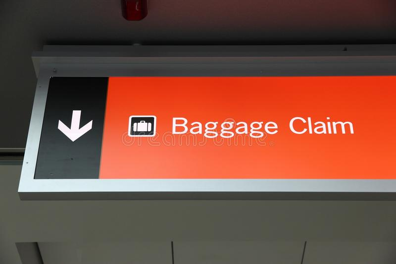领取行李 免版税库存照片