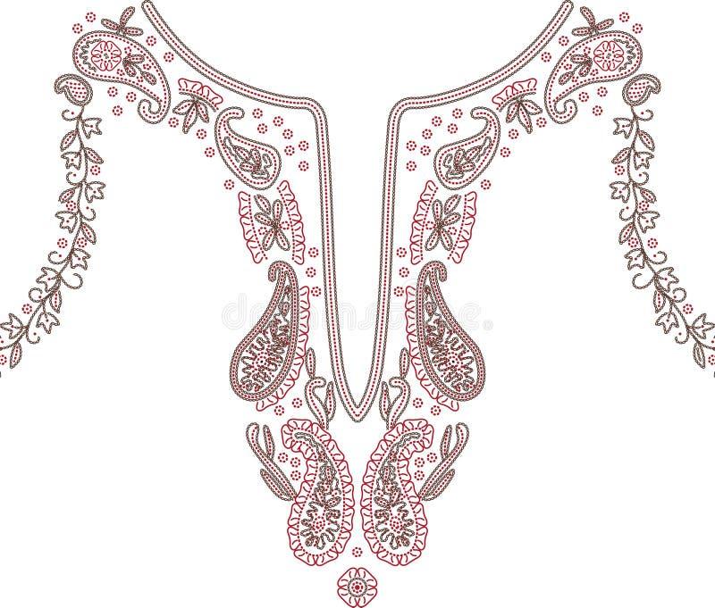 领口例证设计时尚 皇族释放例证