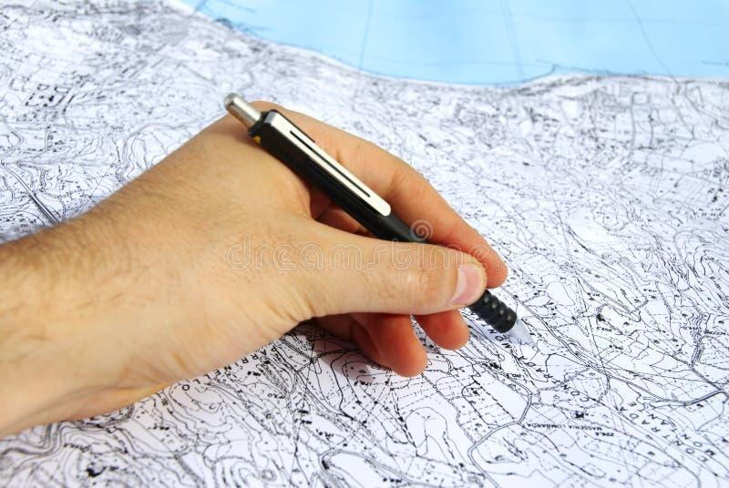领土的计划 库存照片