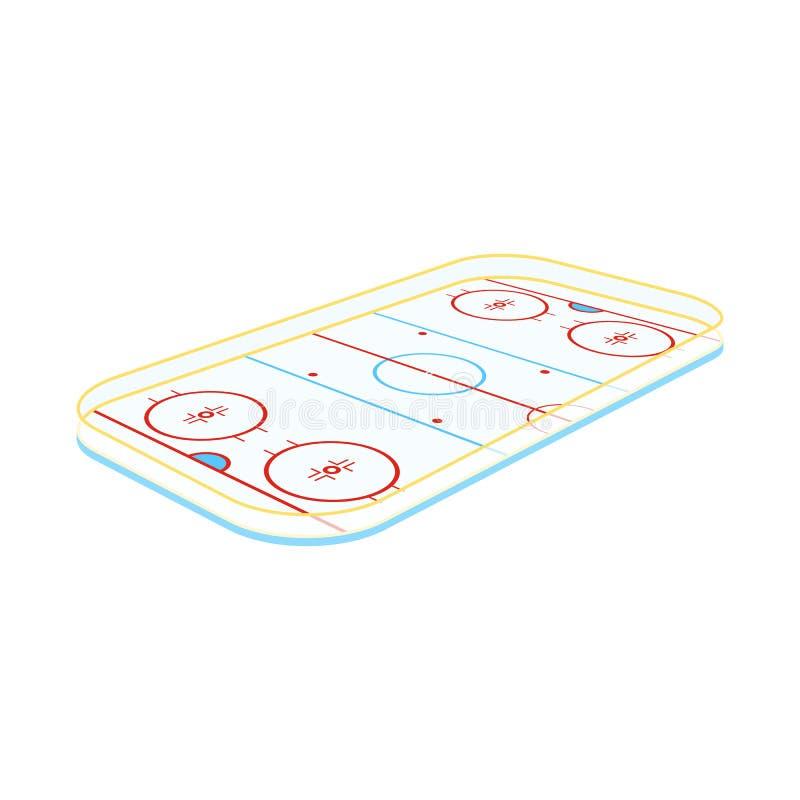 领域和曲棍球标志传染媒介设计  设置网的领域和溜冰场股票简名 库存例证
