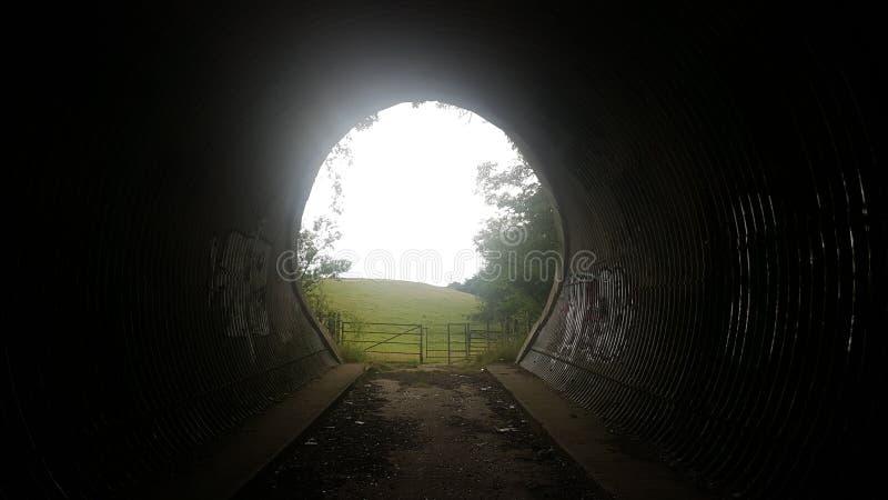 领域在隧道尽头 图库摄影