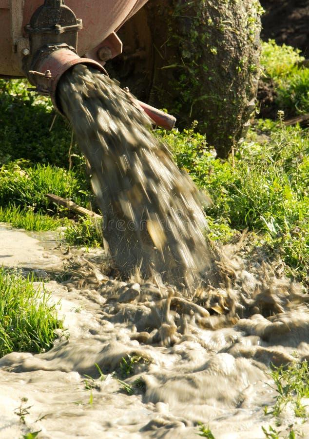领域施肥 免版税库存图片