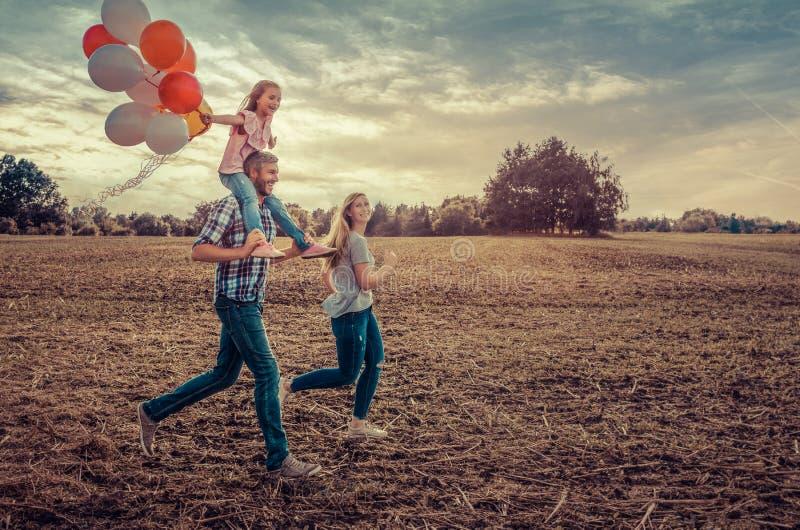 领域连续家庭 免版税库存图片