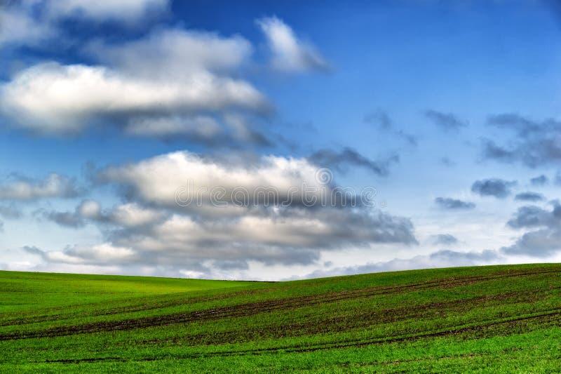 领域 在领域的阴沉的云彩 库存图片