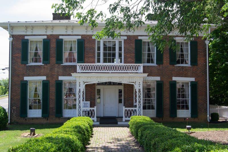 领域Penn 1860家/博物馆Abingdon,弗吉尼亚 免版税库存图片