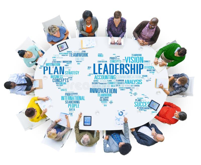领导上司管理教练首要全球性概念 免版税库存图片