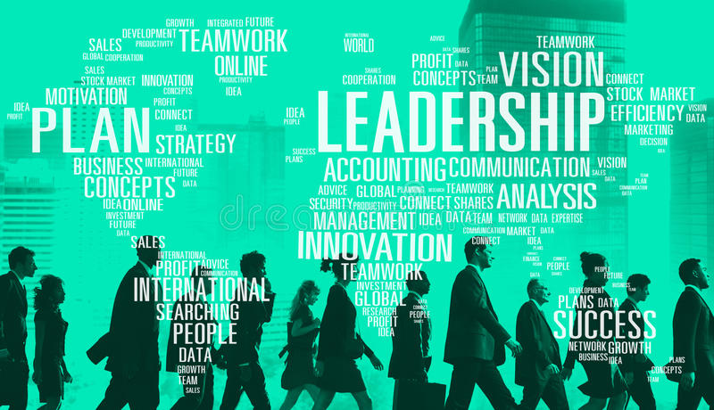 领导上司管理教练首要全球性概念 免版税图库摄影