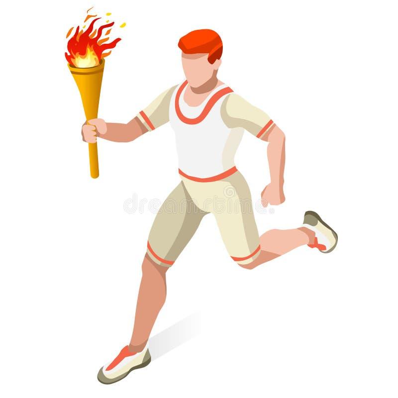 领导人中转连续人夏天比赛象集合 概念乡下空的老透视图路速度舒展 奥林匹克3D等量运动员 体育竞赛 体育运动 向量例证