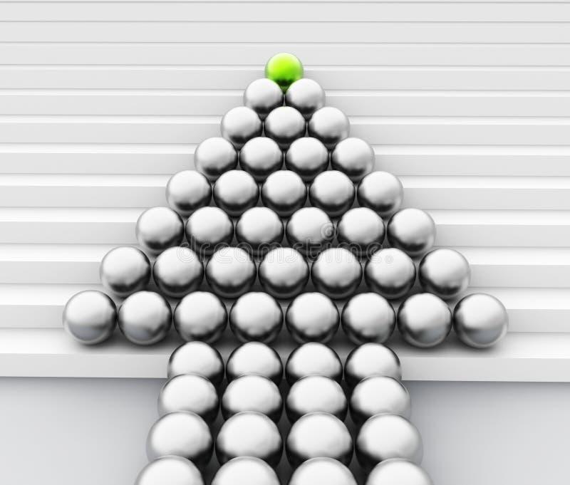 领导人球形手段队工作和处理 向量例证