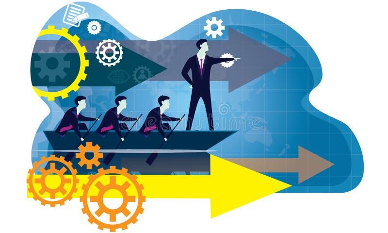 领导企业概念 领导人人象印刷术 库存例证