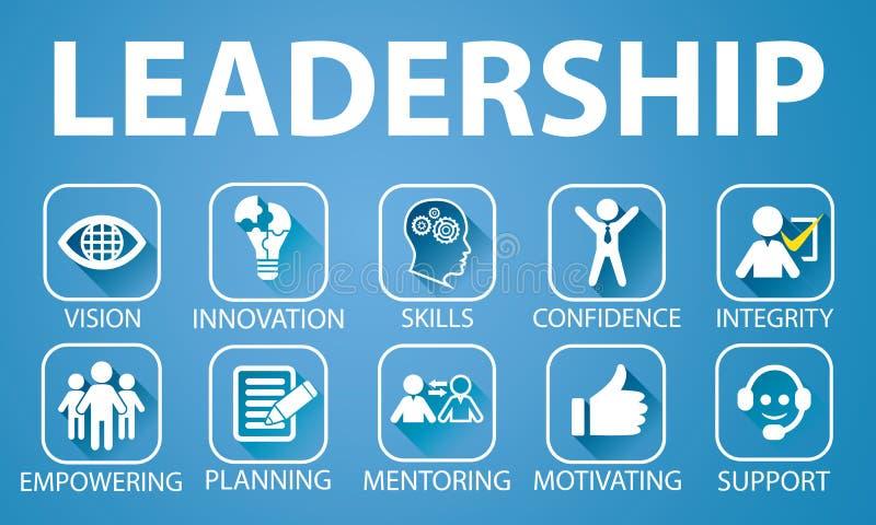 领导企业概念 领导人人象印刷术 皇族释放例证