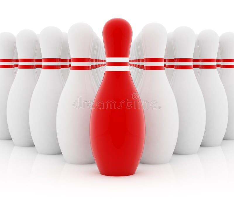 领导先锋红色 向量例证