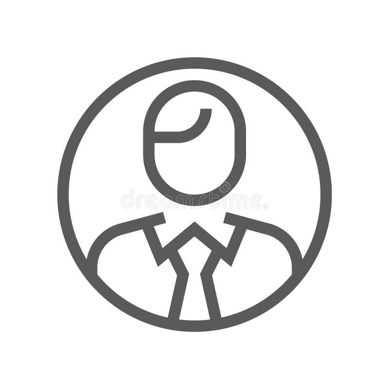 领导和公司管理传染媒介平的线象 关键人 编辑可能的冲程 48x48完善的映象点 向量例证