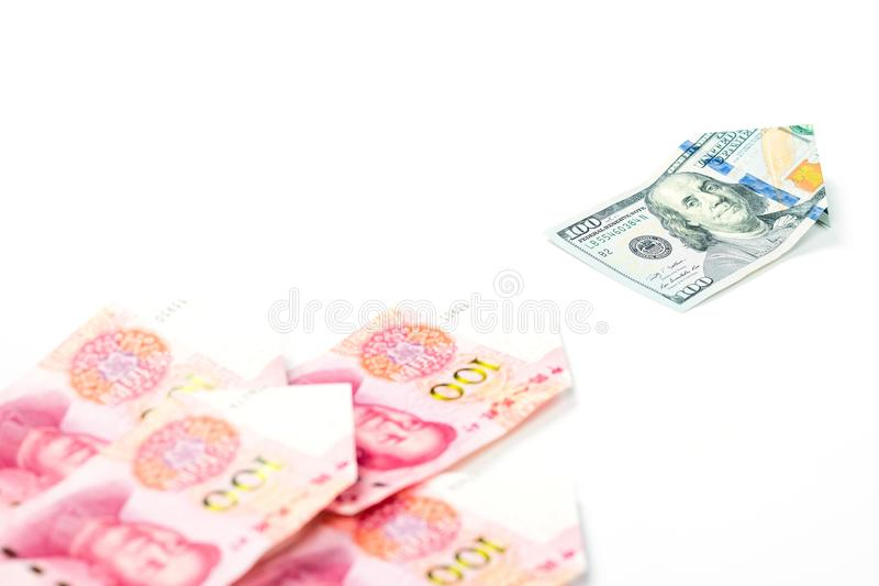 领导和另外概念与美元发单主导的池氏 库存图片