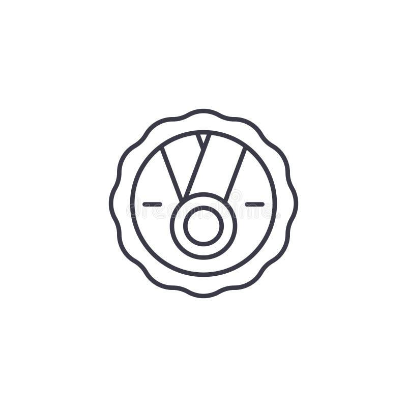 领导奖线性象概念 领导奖线传染媒介标志,标志,例证 库存例证
