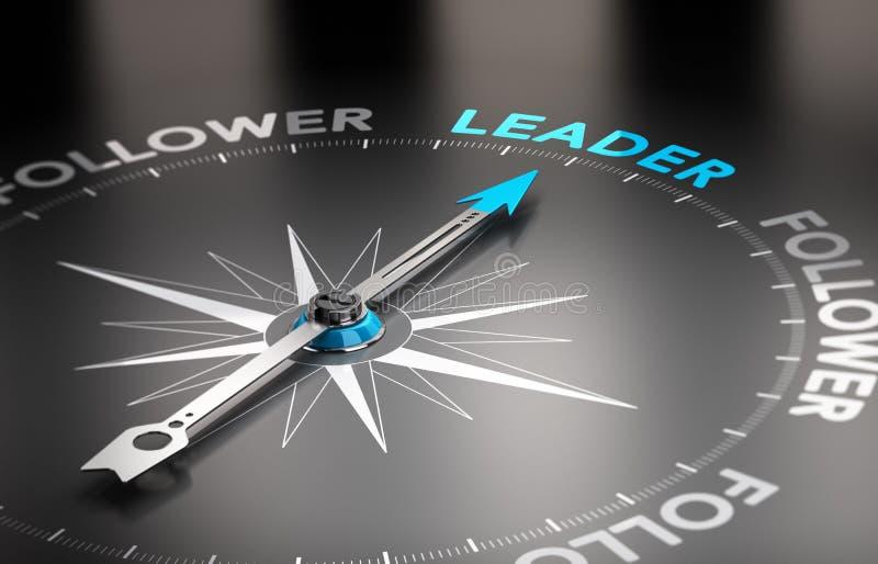领导对追随者概念 库存例证