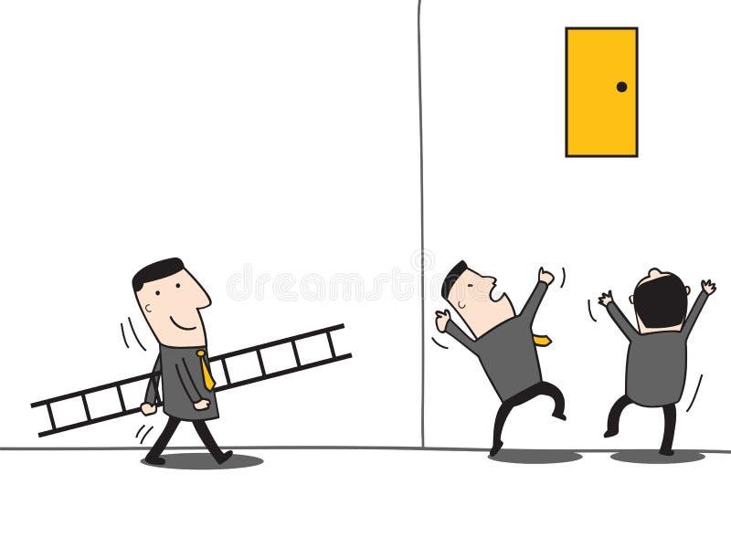 领导带来梯子 库存例证