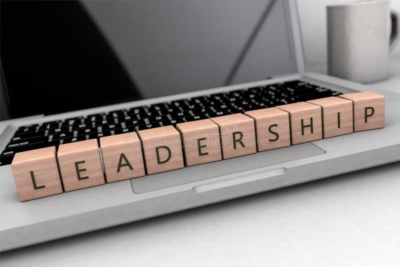 领导文本概念 库存例证