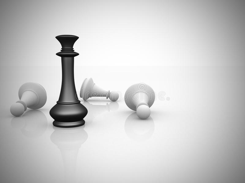 领导概念棋例证 库存例证