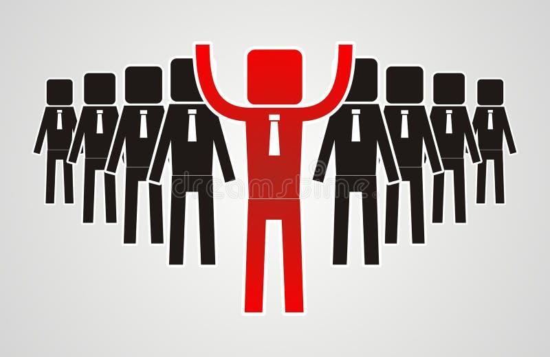 领导概念-小组工作者应该是领导 库存例证