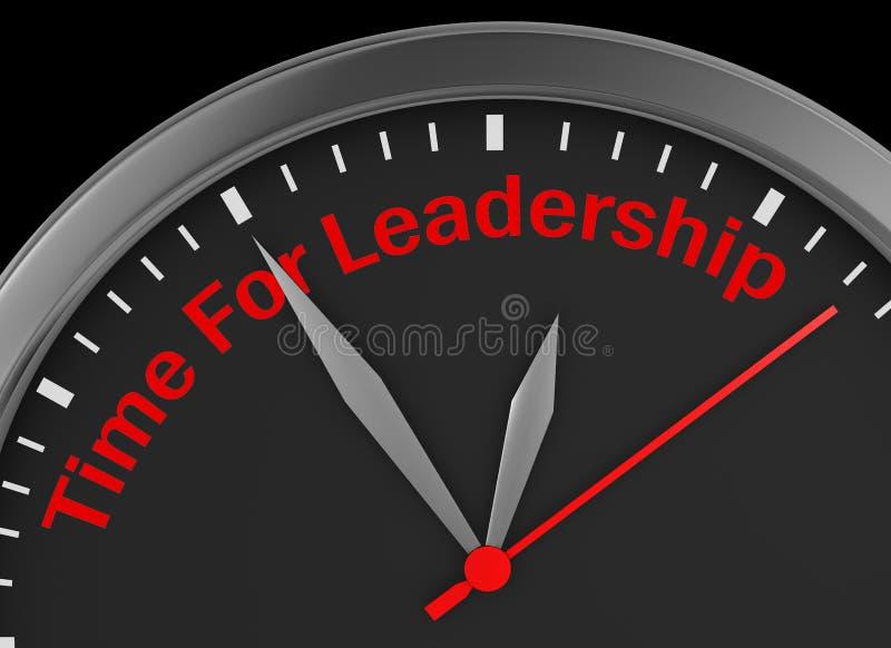 领导的时刻 库存例证