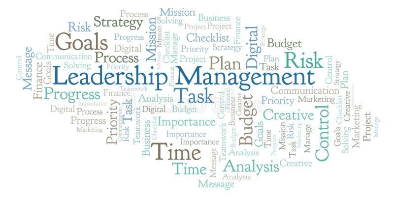 领导管理词云彩,做用仅文本 库存例证