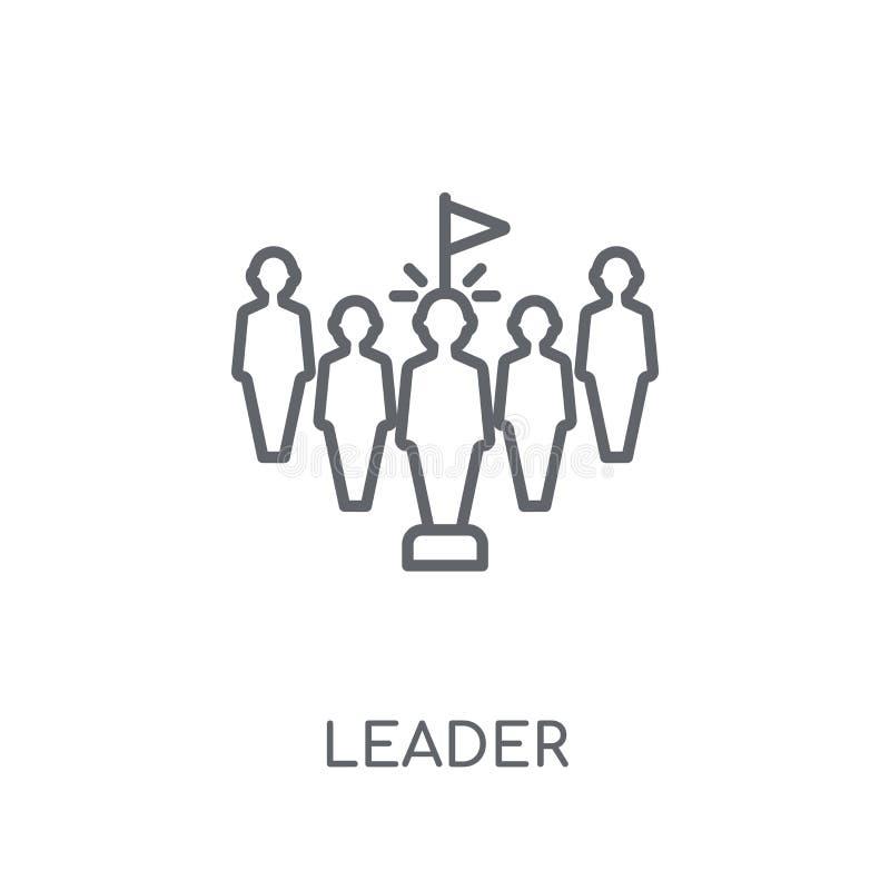 领导线性象 在白色的现代概述领导商标概念 库存例证