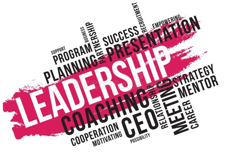 领导词云彩拼贴画,企业概念背景 向量例证
