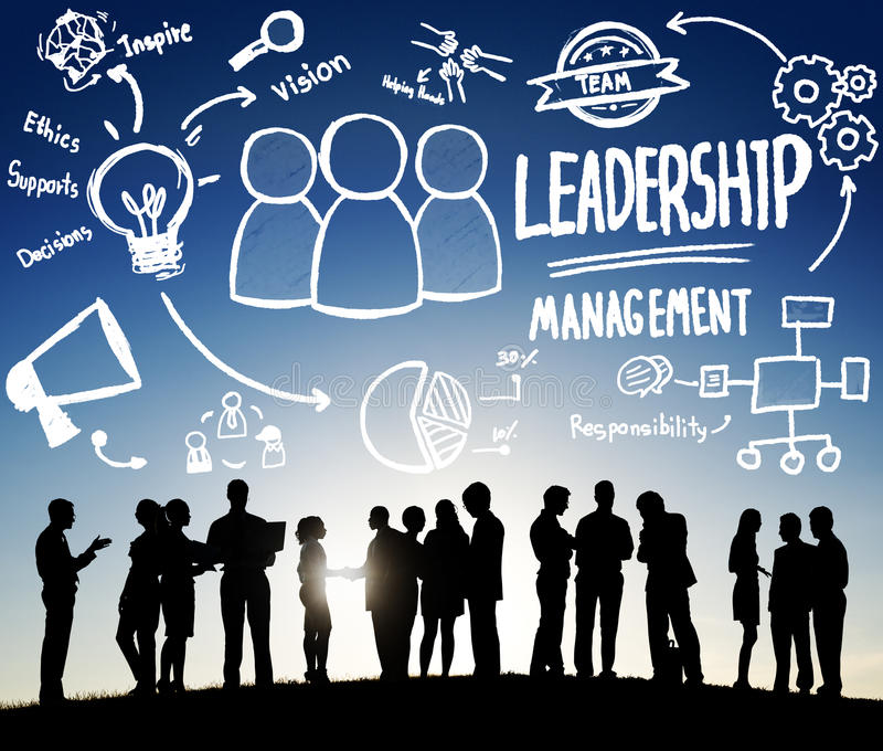 领导领导人管理当局Concept主任 向量例证