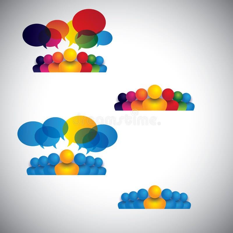 领导,友谊人象的汇集-导航co 向量例证