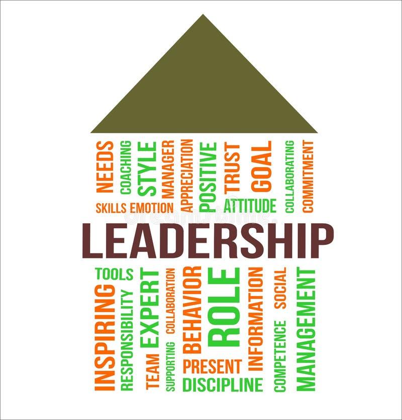 领导-词云彩 向量例证