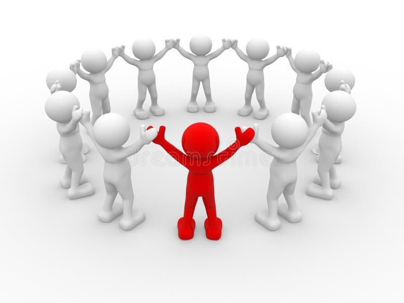 领导 向量例证