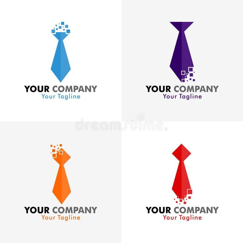 领带映象点传染媒介商标 库存照片