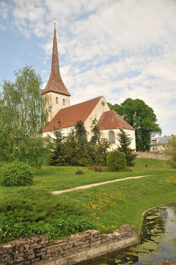 领港教会在拉克韦雷 免版税库存图片
