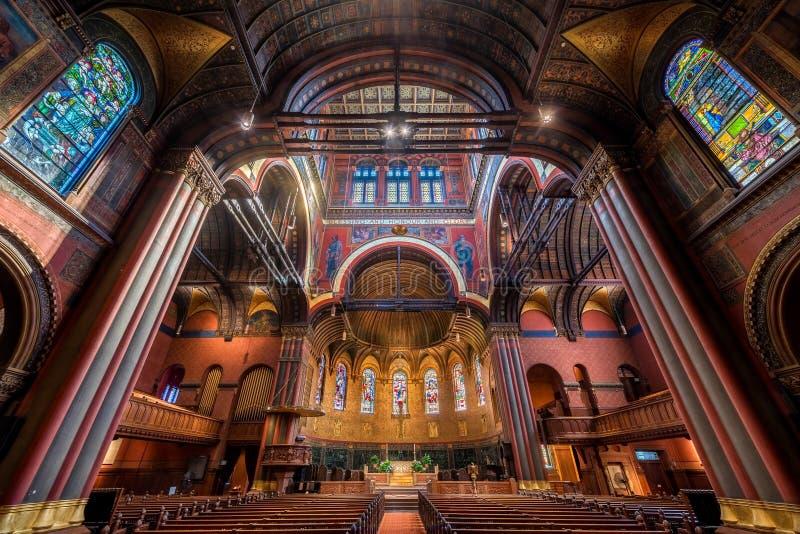 领港教会在波士顿 免版税图库摄影