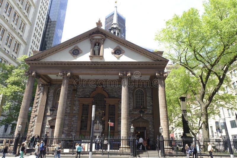 领港教会在纽约 库存照片