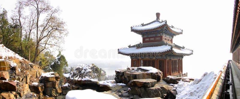 颐和园的北京塔 免版税库存照片