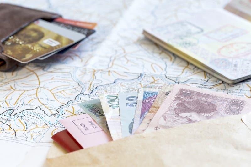 频繁旅客角度图书桌  免版税库存图片