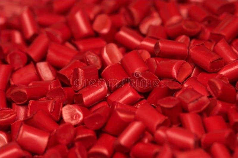 颗粒化塑料粒子的药丸 免版税库存图片