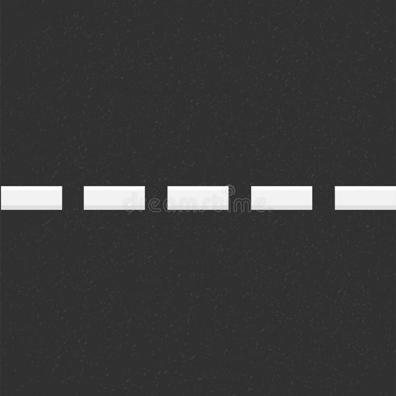 颗粒状沥青结构  与沥青纹理的路背景 与空白线路路标的沥青纹理 库存例证