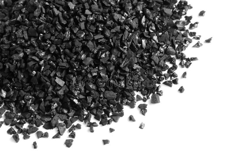 颗粒状被激活的碳 图库摄影