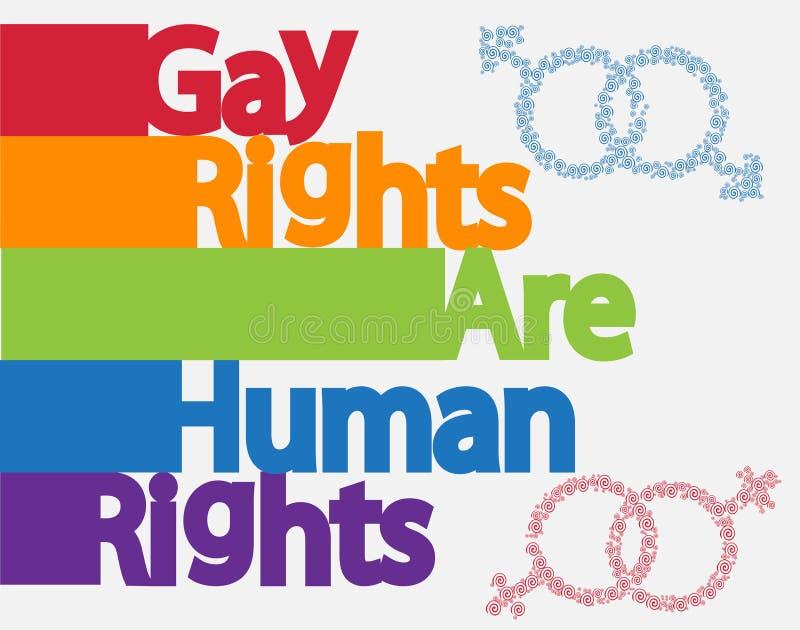 题字、LGBT概念、自由和奋斗同性恋权利的 库存例证