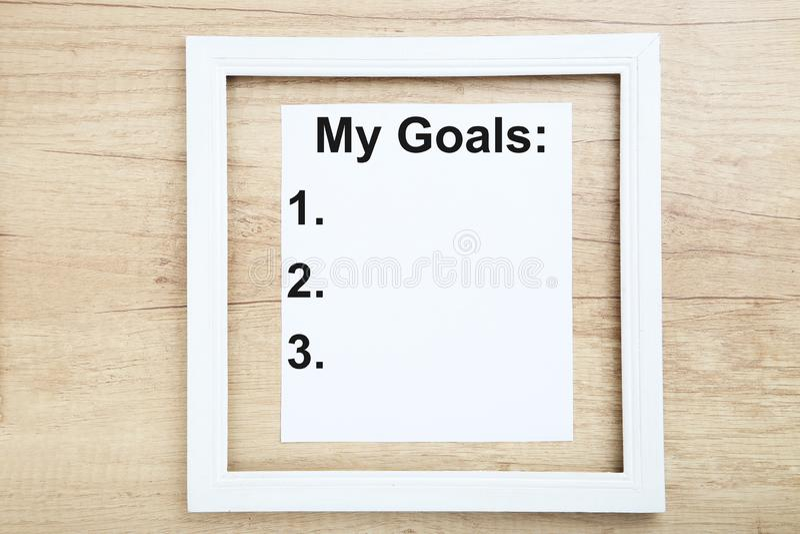 题字我的目标 向量例证
