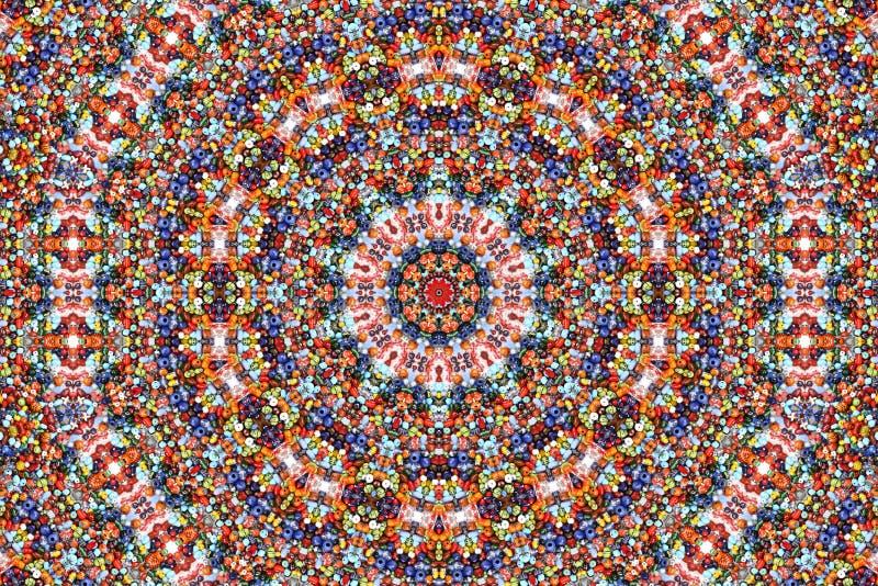 颜色万花筒模式 图库摄影