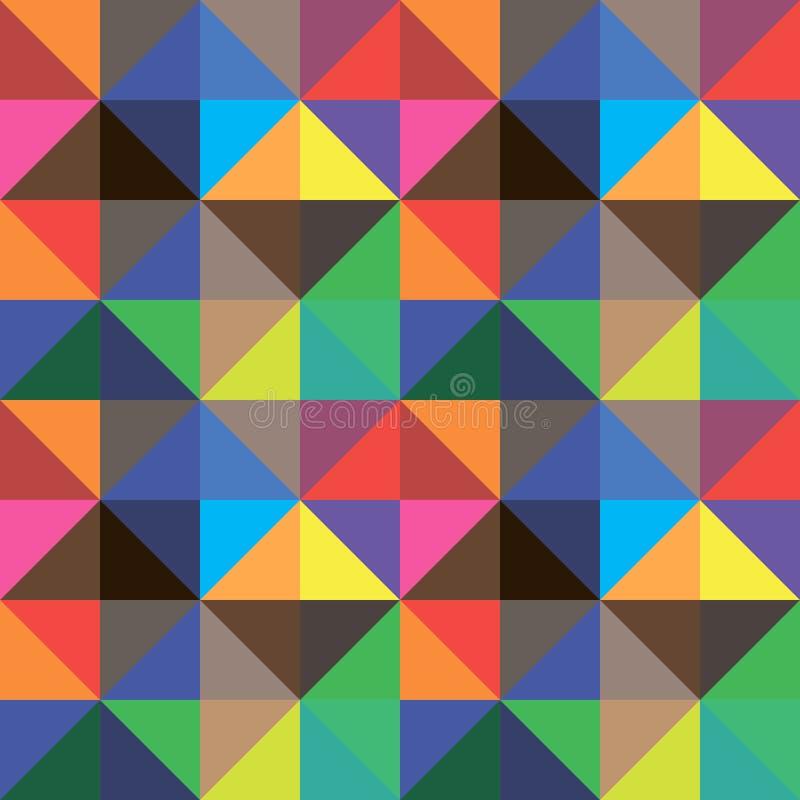 颜色三角抽象背景,传染媒介设计 库存例证