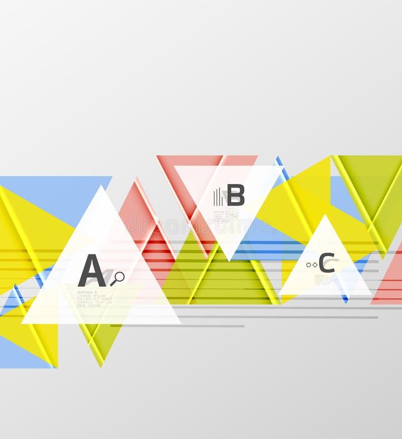 颜色三角背景设计 向量例证