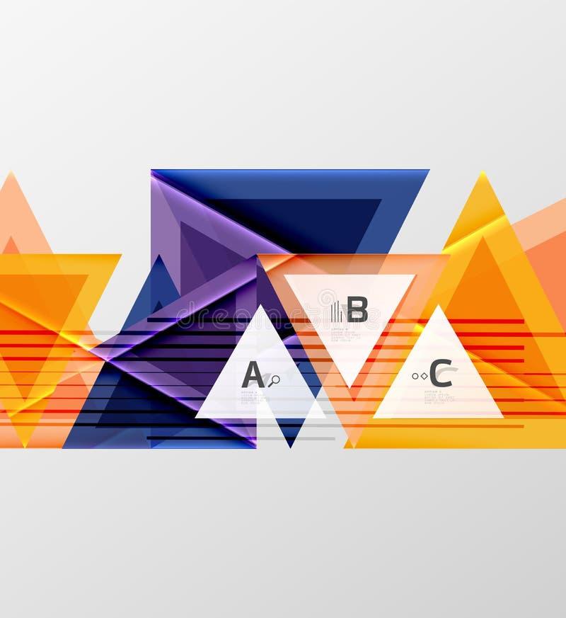 颜色三角背景设计 皇族释放例证