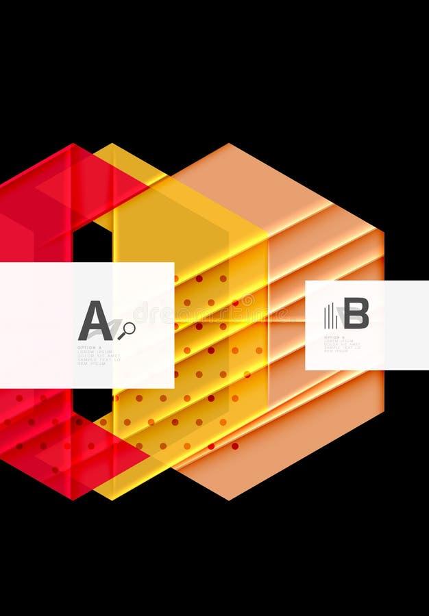 颜色三角背景设计 库存例证