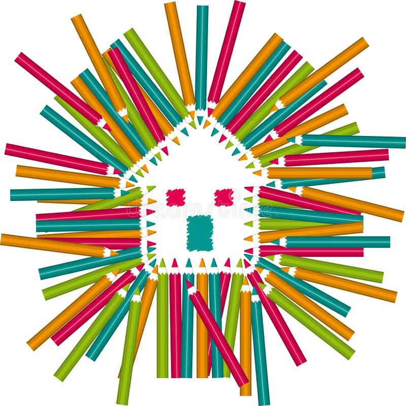 颜色书写之家 免版税图库摄影