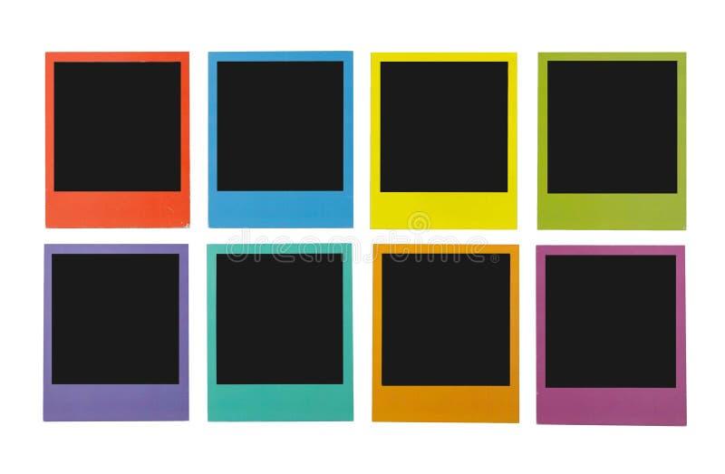 颜色人造偏光板 免版税库存图片